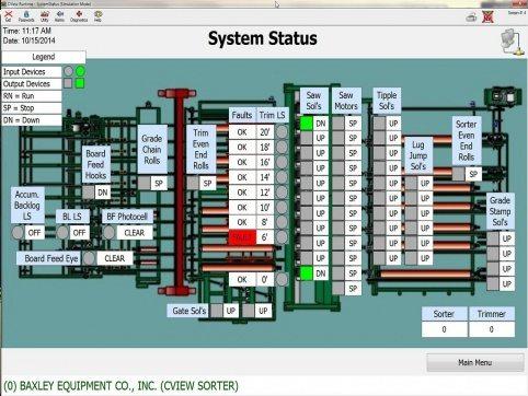 Baxley Process Controls Screen