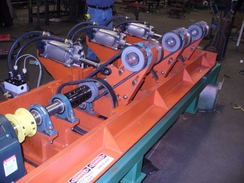 crosscut saw sawmill equipment in action